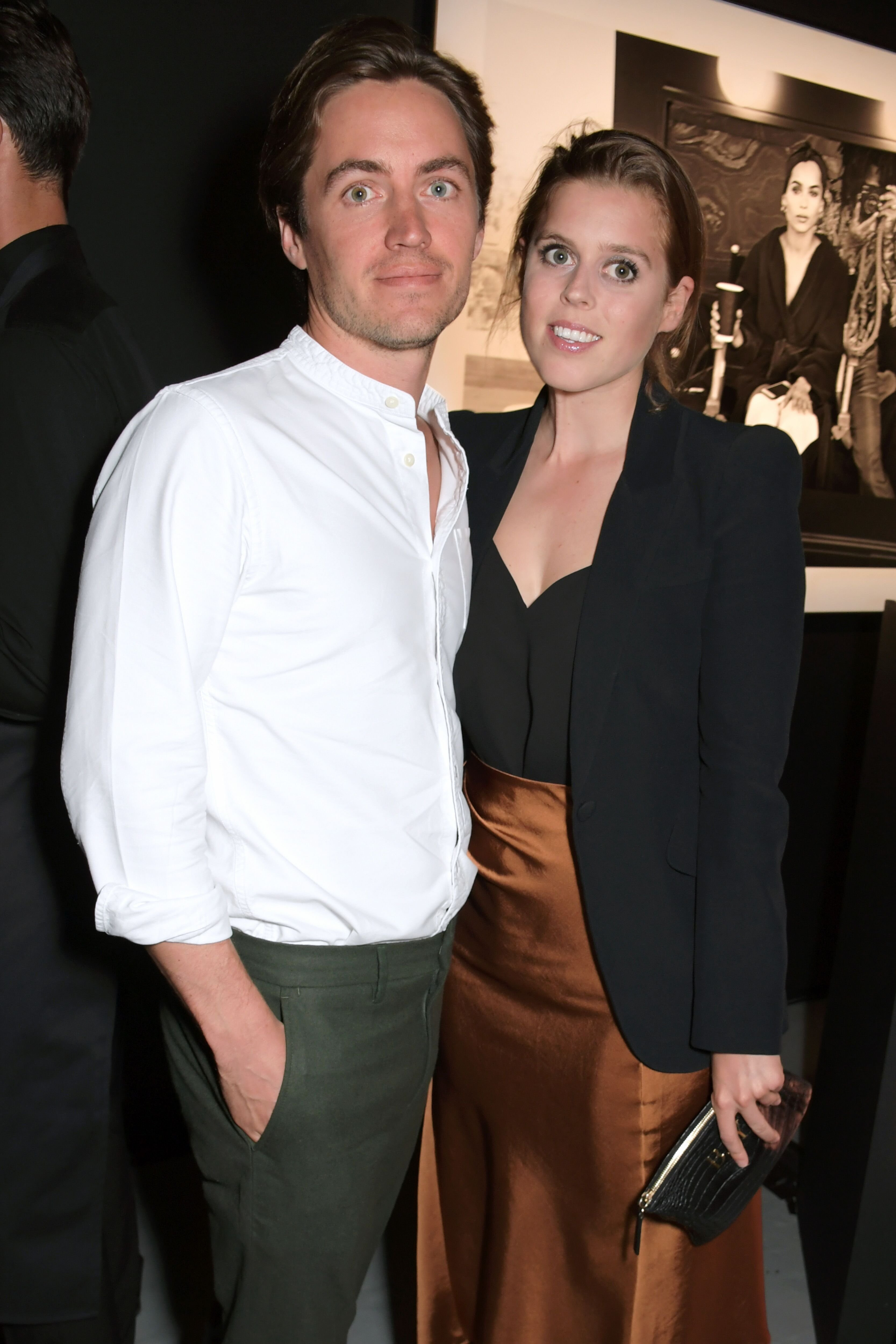 Edoardo Mapelli Mozzi and Princess Beatrice of York attend the Lenny Kravitz & Dom Perignon 'Assemblage' exhibition, the launch Of Lenny Kravitz' UK Photography Exhibition, on July 10, 2019 in London, England. | Photo: Getty Images