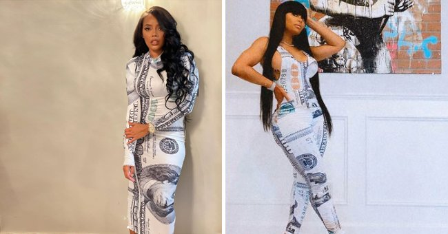Rob Kardashian's Exes Angela Simmons & Blac Chyna Show off White Outfits with Matching Print