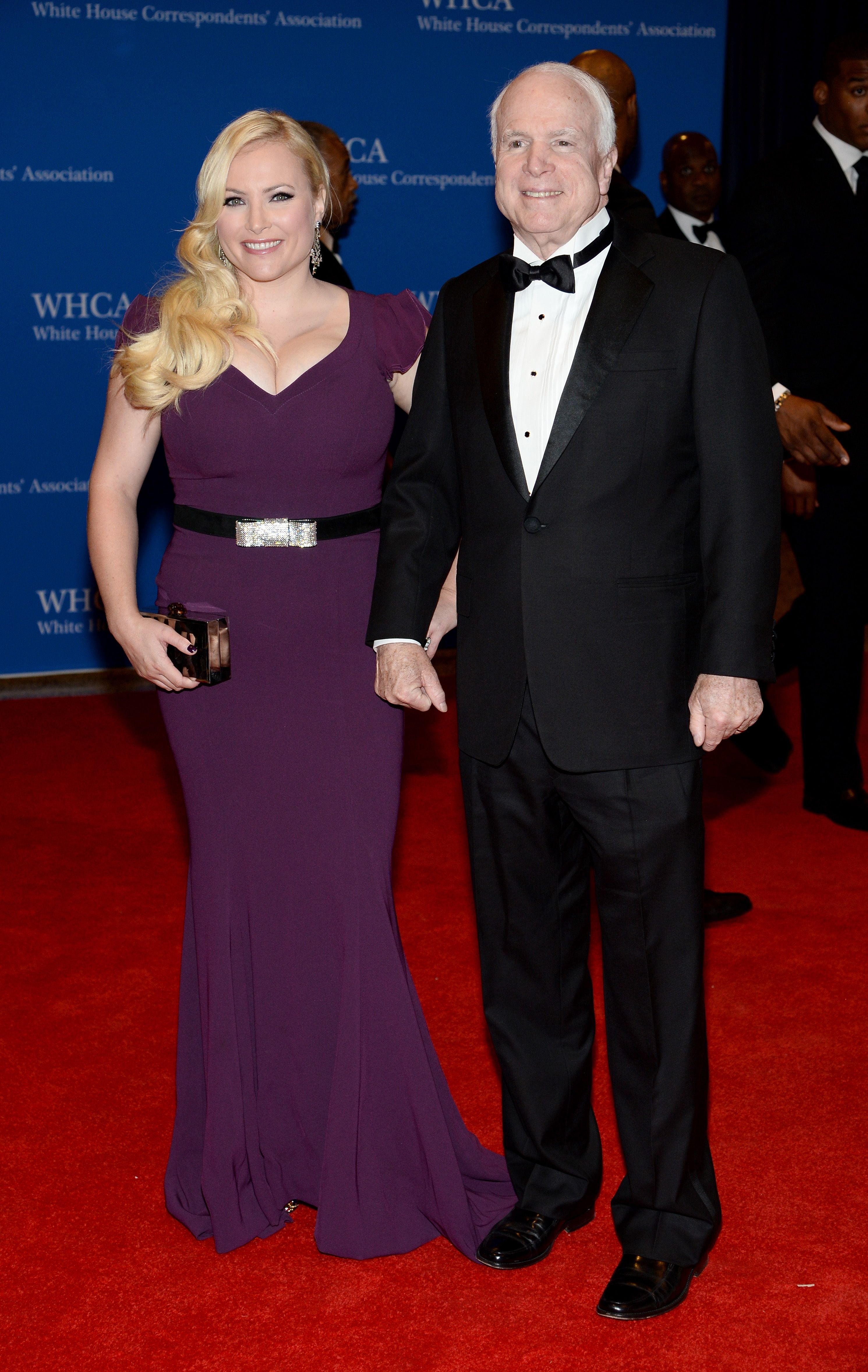 Megan McCain and late Senator John McCain at the 100th Annual White House Correspondents' Association Dinner at the Washington Hilton on May 3, 2014 | Photo: Getty Images