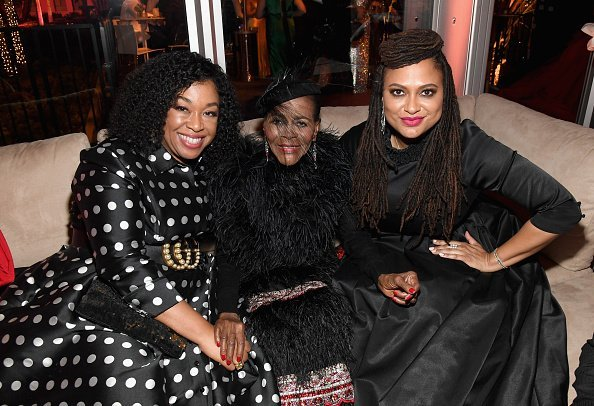 Shonda Rhimes, Cicely Tyson, and Ava DuVernay attend the 2019 Vanity Fair Oscar Party | Photo: Getty IImages