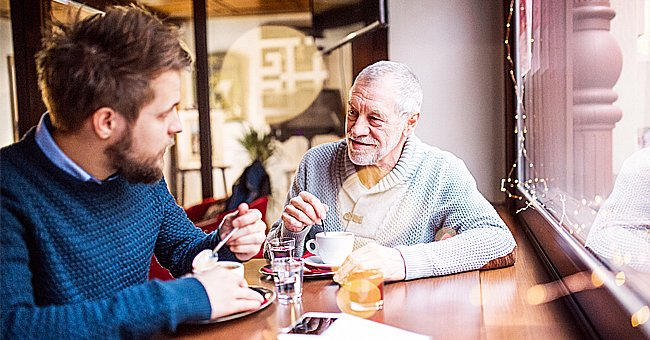 A photo of a father and son at a cafe.   Photo: Shutterstock