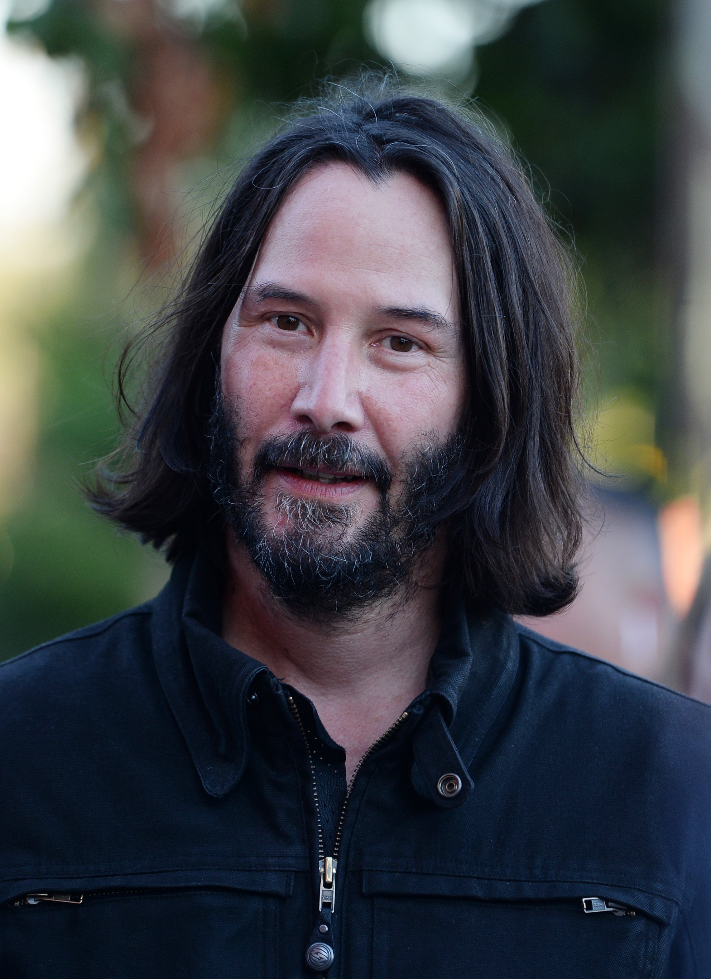 "Keanu Reeves arrives at the LA Special Screening of Amazon's ""Too Old To Die Young"" on June 10, 2019, in Los Angeles, California. 