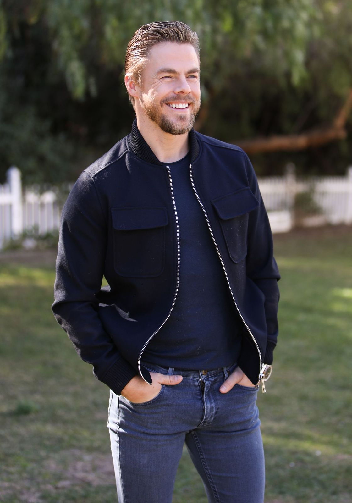 """Derek Hough visits Hallmark Channel's """"Home & Family"""" at Universal Studios Hollywood on February 04, 2020, in Universal City, California 