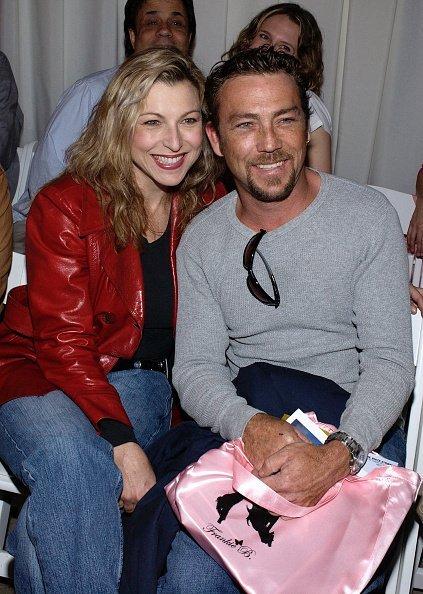 Tatum O'Neal and her brother Griffin attend the Frankie B Fall 2003 preview during the Mercedes-Benz Shows LA fashion week in Los Angeles, California.   Photo: Getty Images.