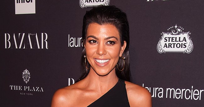 Kourtney Kardashian Shows off Her Toned Physique Wearing a Printed Bikini in New Photos