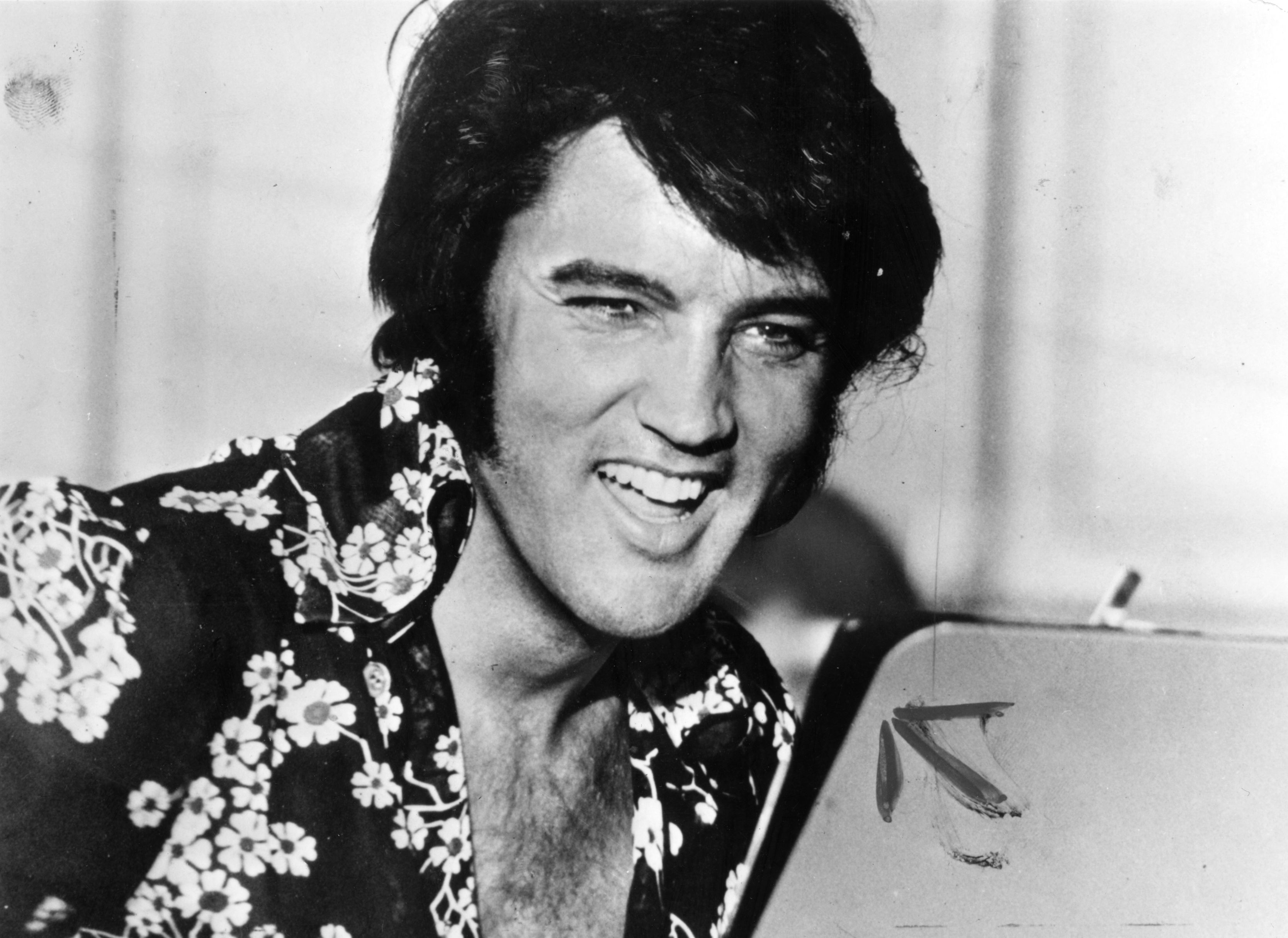 Elvis Presley laughing circa 1975   Photo: Getty Images
