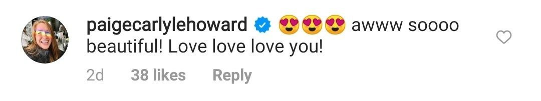 Paige Howard commented on her dad Ron Howard's Instagram photo. | Photo: Instagram//realronhoward