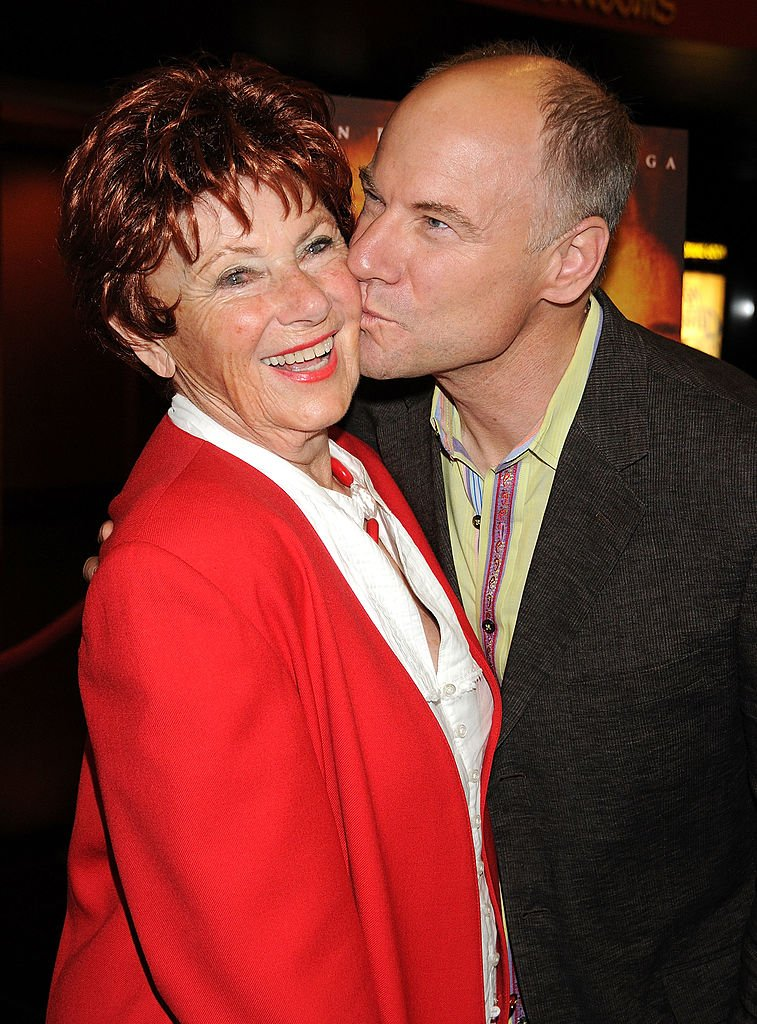 """Marion Ross arrives with son, actor Jim Meskimen, at the """"Not Forgotten"""" Los Angeles Premiere at the Mann Chinese 6 on May 15, 2009 