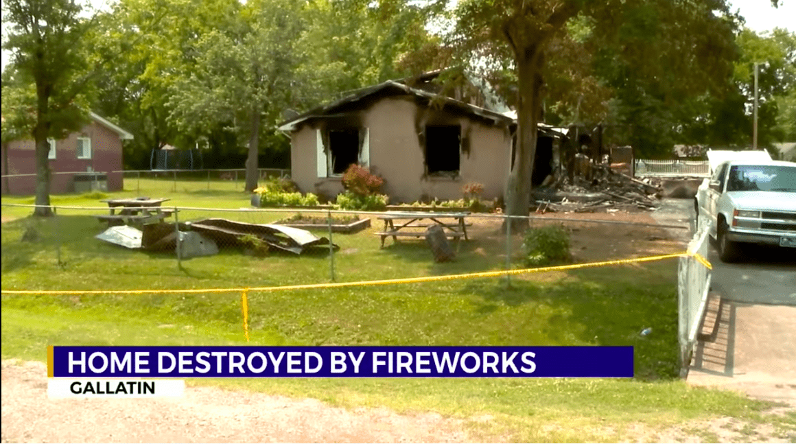Screenshot showing home destroyed in the fire. | Source: YouTube/ WKRN News 2