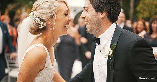 Braut verblüfft, als 3-jährige Tochter unerwartet den Mittelfinger auf Hochzeitsfoto zeigt