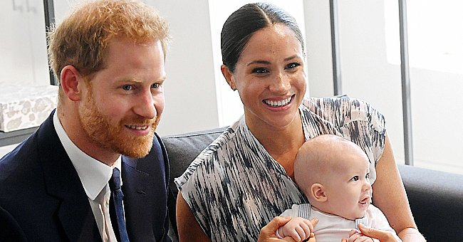 Prince Harry, Meghan Markle and Archie pictured on their tour to South Africa, 2019. | Photo: Getty Images
