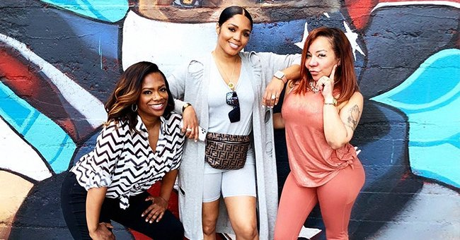 TI's Wife Tiny Harris Was Pretty-In-Pink during Her Meeting with Kandi Burruss and Rasheeda