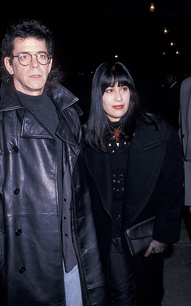 Lou Reed and wife Sylvia Morales attend Party Hosted by Ahmet Ertegun on January 17, 1989 at Mortimer's Restaurant | Photo: Getty Images