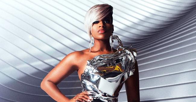 Fantasia's Platinum Blonde Hair and Metallic Bodysuit Look Is beyond Edgy
