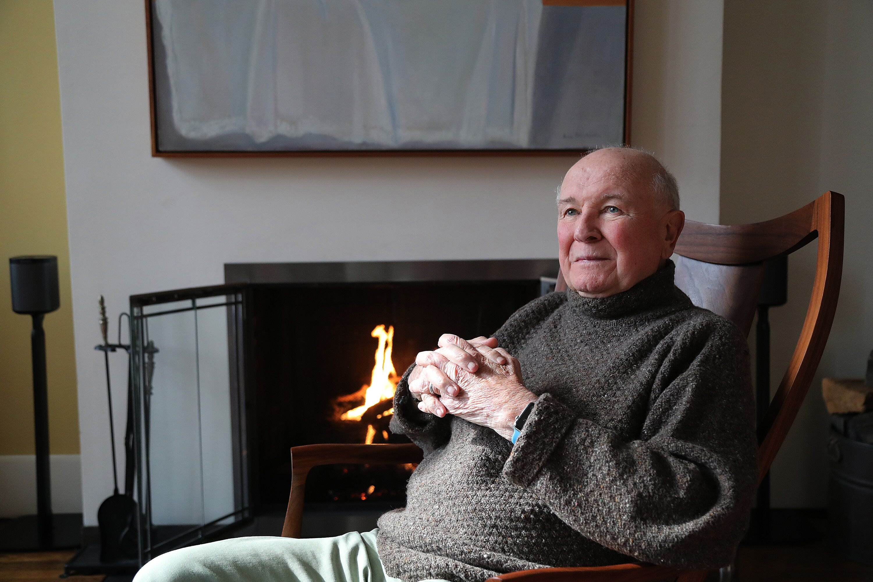 Terrence McNally appears in a portrait taken in his home on March 2, 2020, in New York City | Photo:Al Pereira/Getty Images