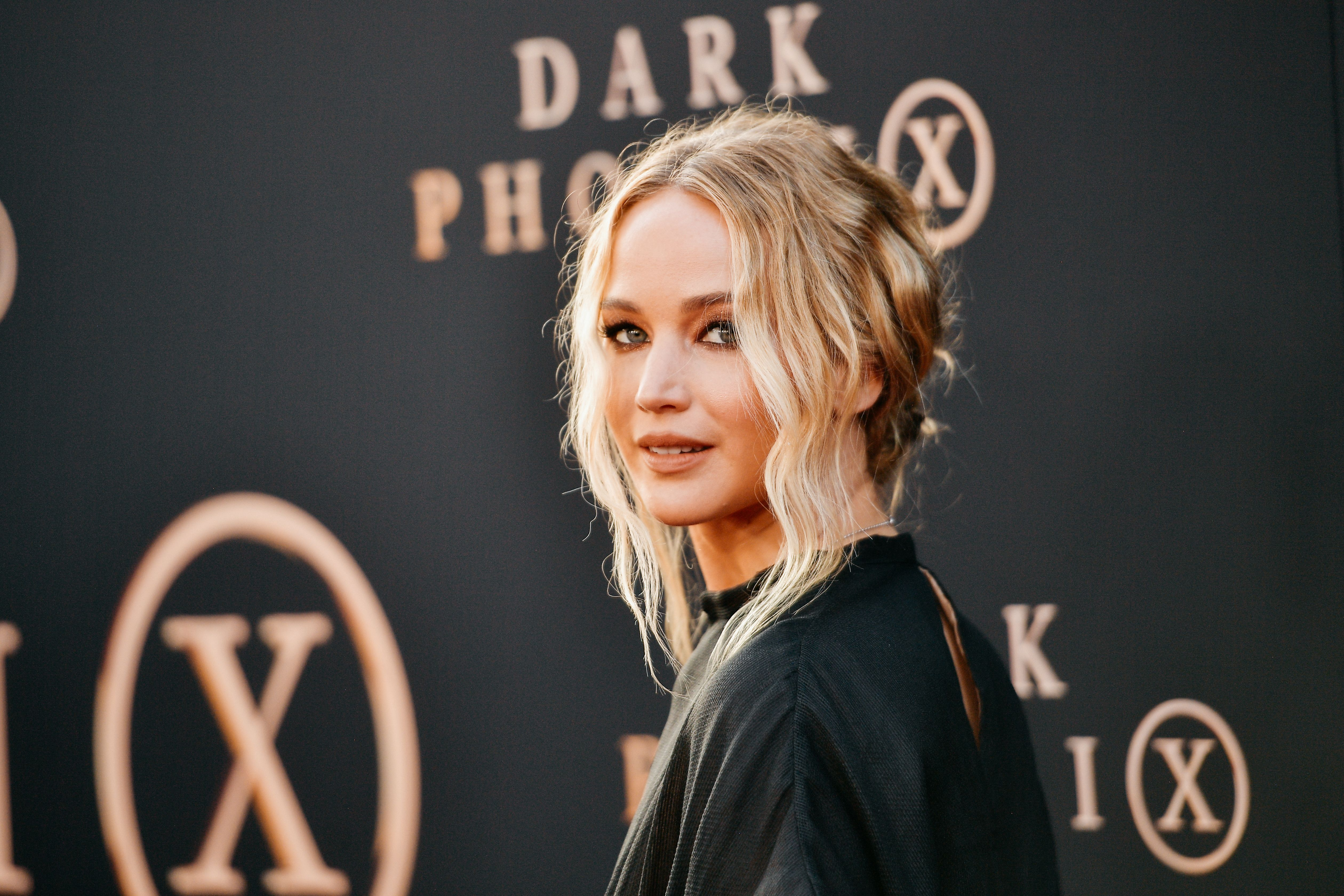"Jennifer Lawrence at the premiere of 20th Century Fox's ""Dark Phoenix"" at TCL Chinese Theatre on June 04, 2019 