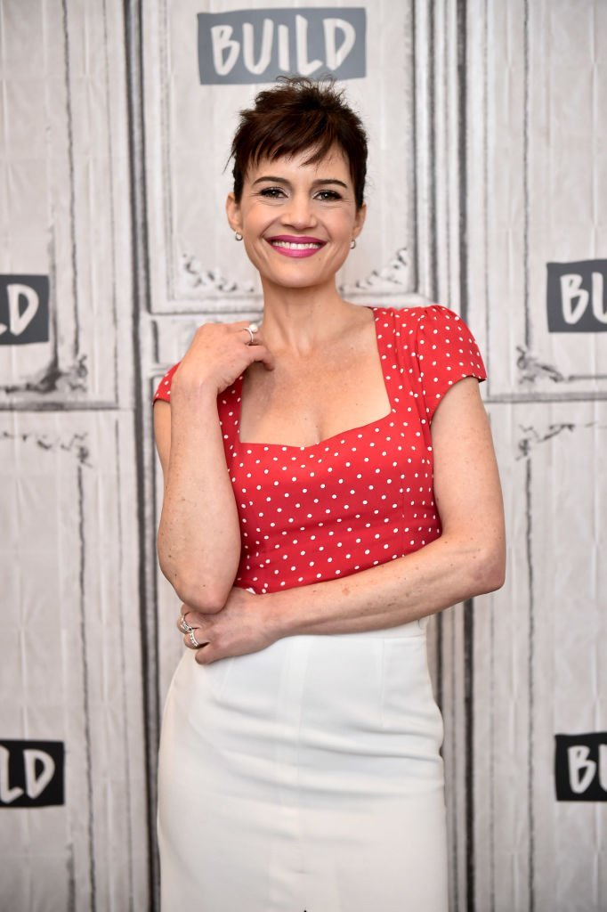 Carla Gugino visits Build Studio on June 11, 2019 in New York City.  | Getty Images