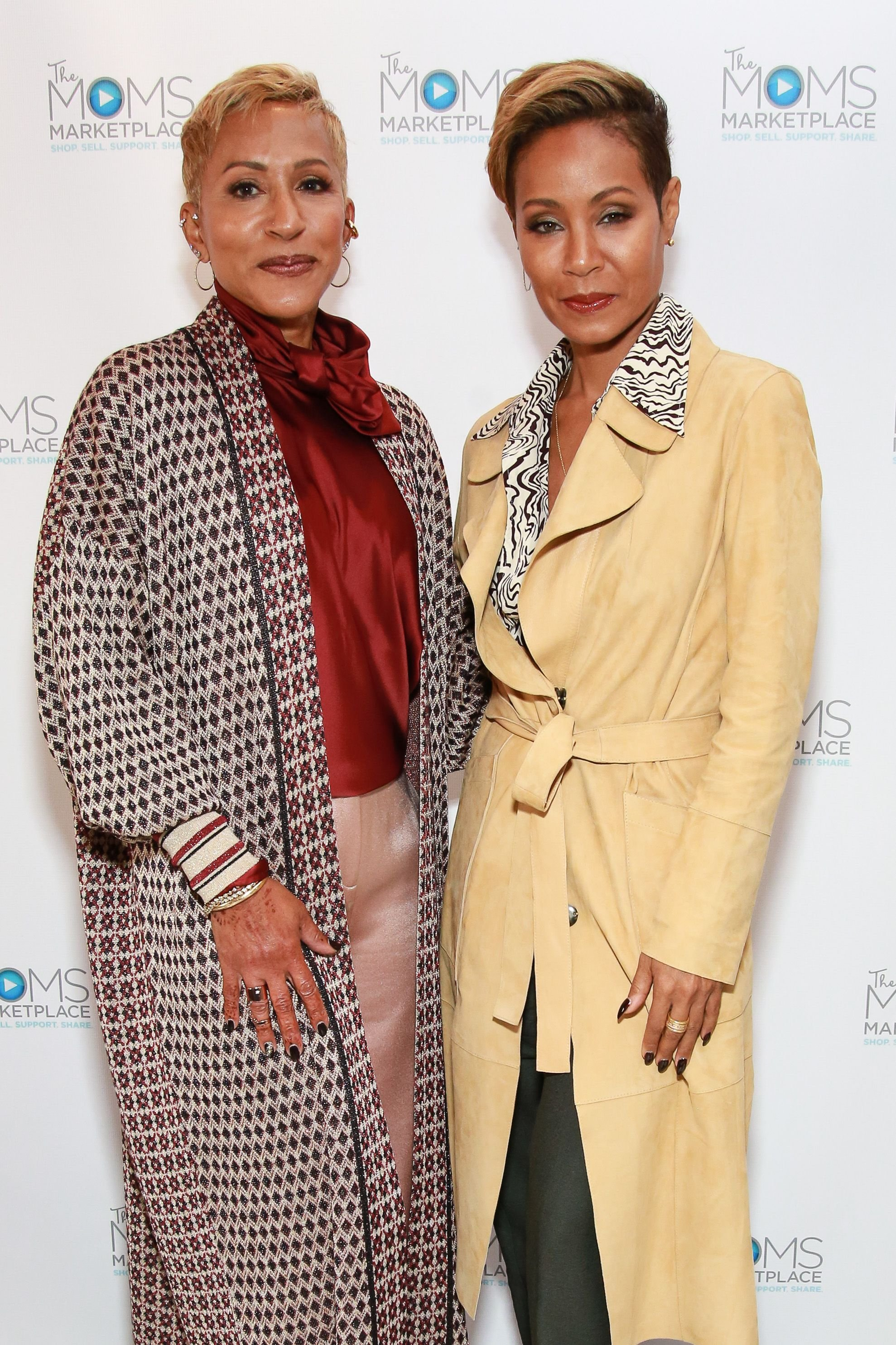 "Adrienne Banfield-Norris and Jada Pinkett Smith at ""THE MOMS' on October 23, 2018 