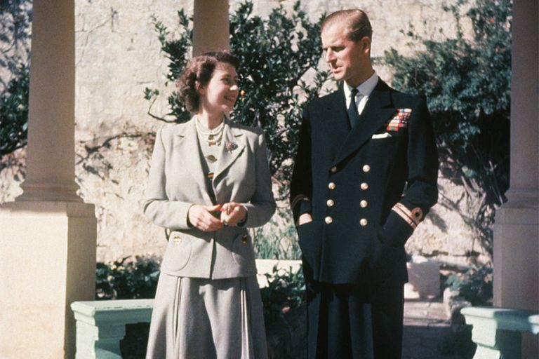 Elizabeth and Philip on their honeymoon in Malta, 1947   Photo: Getty Images