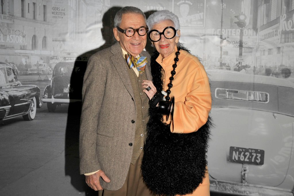 Carl Apfel and Iris Apfel attend Spring Lecture Symposium and Luncheon Honoring ELIZABETH TOZER at Museum of the City of New York on April 26, 2010. | Photo: Getty Images