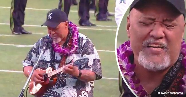 Hawaiian singer's stirring rendition of national anthem that blew away the crowd went viral in 2018