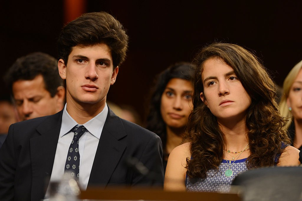 Tatiana and Jack listen to their mother at the U.S. Senate Foreign Relations Committee in Capitol Hill on September 19, 2013   Source: Getty Images