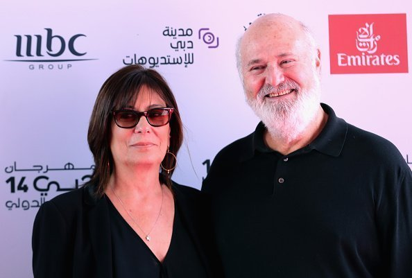 "Michele Singer Reiner and director Rob Reiner attend the ""Shock and Awe"" red carpet on day four of the 14th annual Dubai International Film Festival held at the Madinat Jumeriah Complex on December 9, 2017 in Dubai, United Arab Emirates 