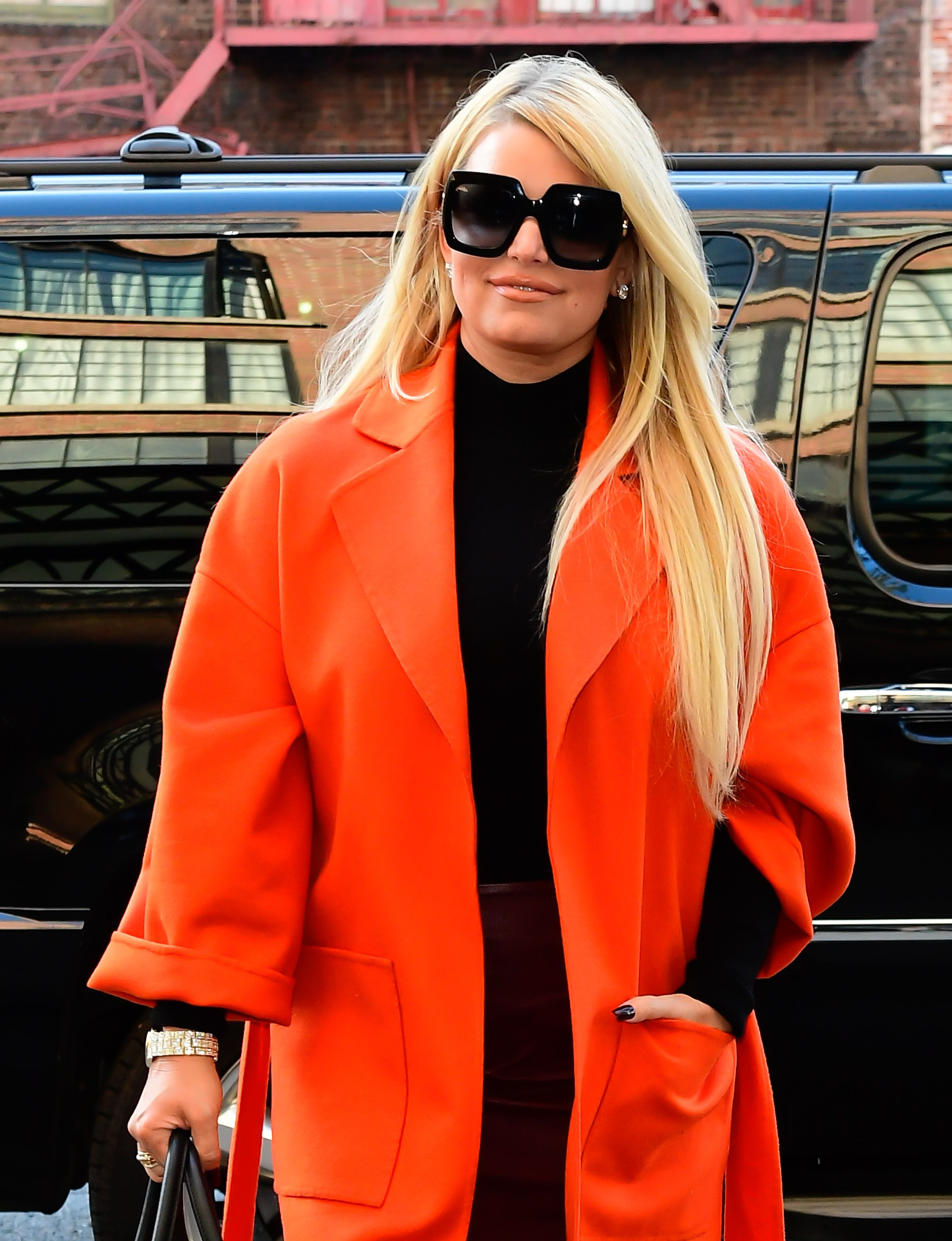 Actress Jessica Simpson at a hotel in SoHo on September 25, 2019  | Photo: Getty Images