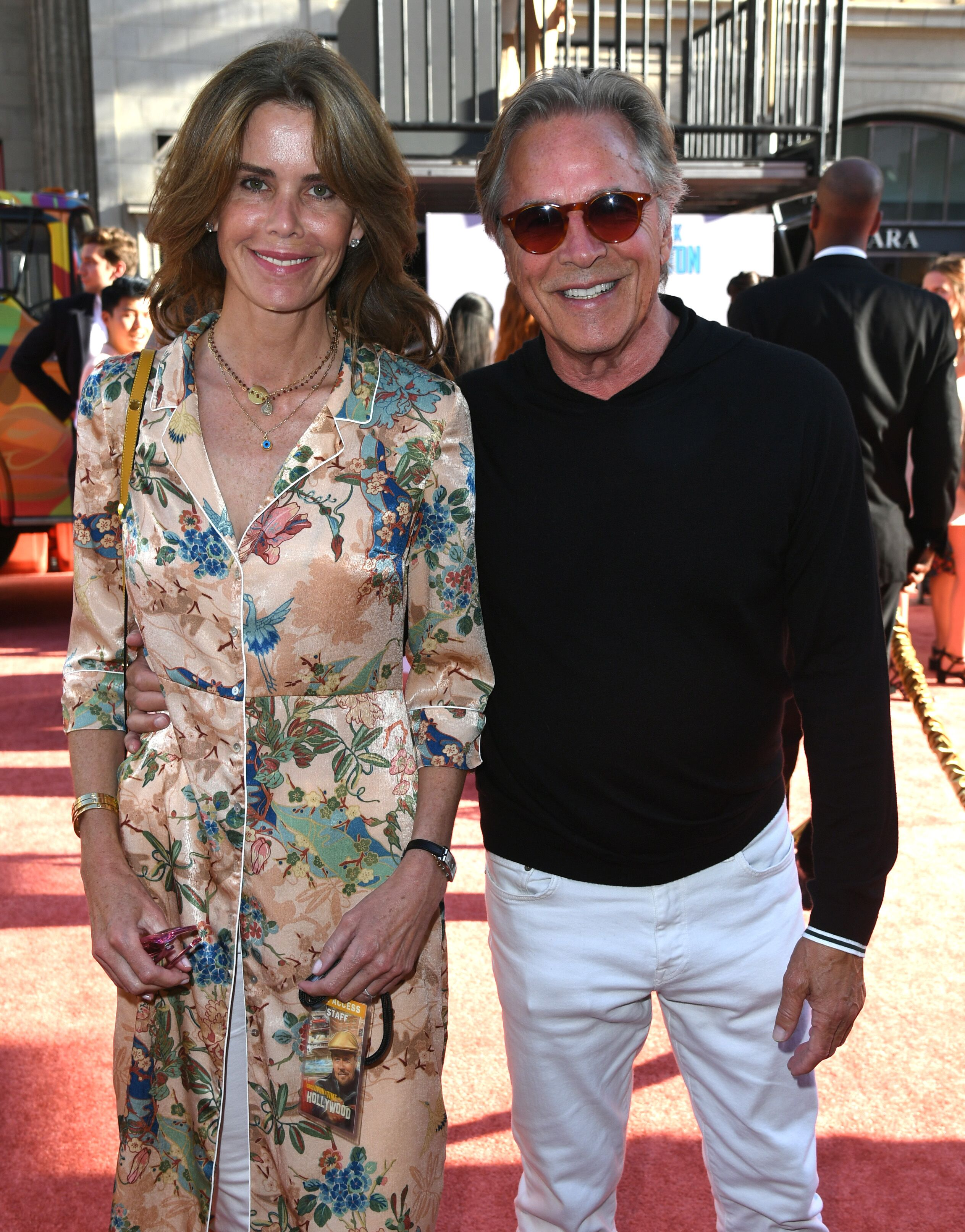 "Don Johnson and his wife, Kelley Phleger, at the premiere of ""Once Upon A Time In Hollywood."" 