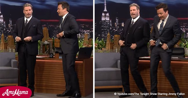 John Travolta stuns with his dance moves from cult movie 'Grease'