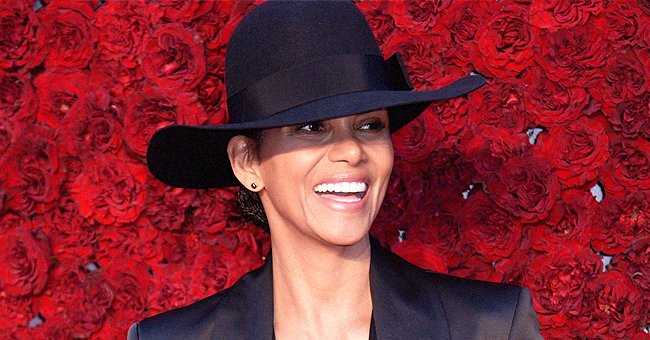 Halle Berry Passionately Kisses Her Boyfriend and Poses with Him in Matching Heart-Print Pajamas
