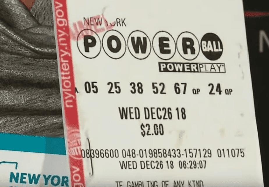 Screenshot of the winning ticket.   Photo: YouTube/Eyewitness News ABC7NY