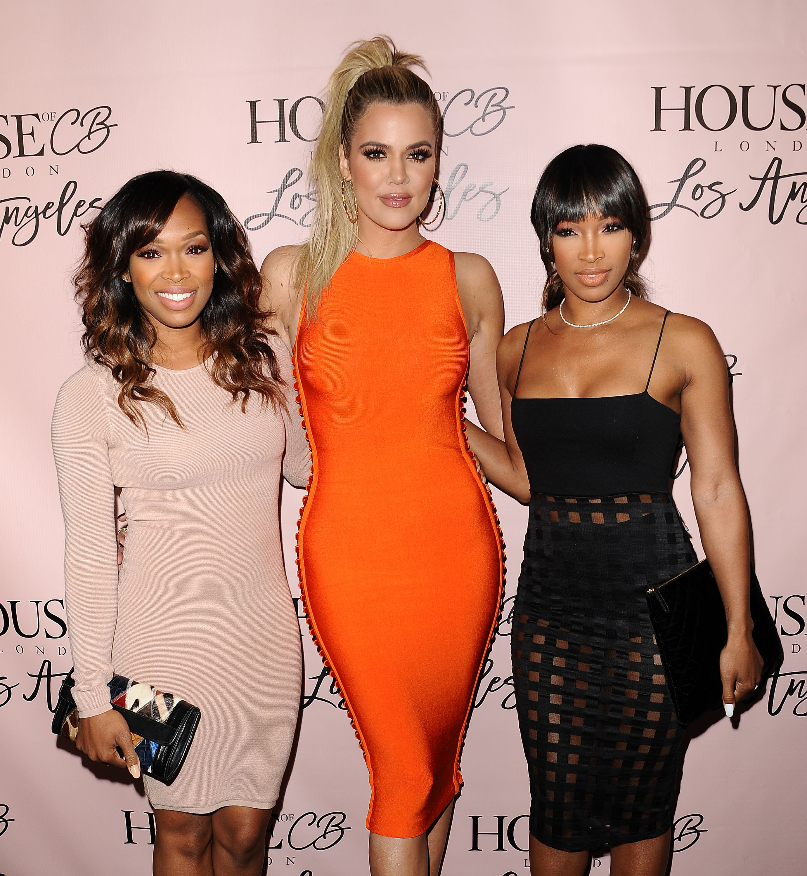 Khadijah Haqq, Khloé Kardashian and Malika Haqq at the House of CB flagship store launch on June 14, 2016 in West Hollywood, California. | Source: Getty Images