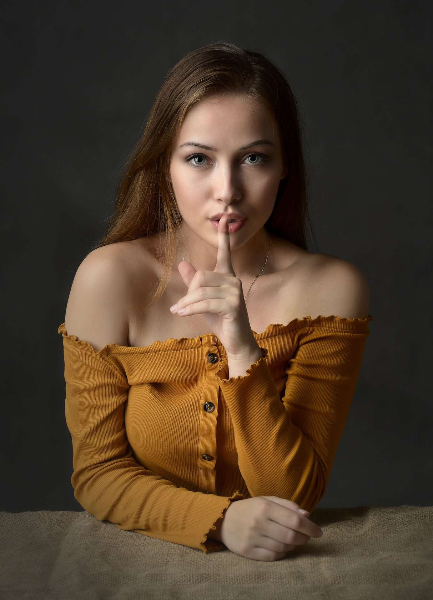A young woman declines to share information.   Photo: Pixabay.