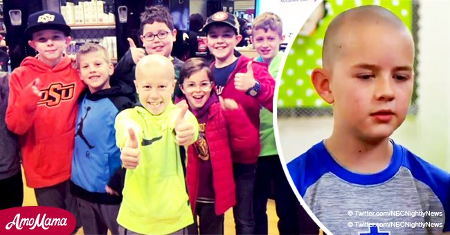 Third-graders shave their heads to encourage classmate not to be ashamed of himself