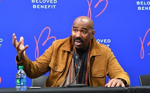 Steve Harvey at the 2019 Beloved Benefit at Mercedes-Benz Stadium on March 21, 2019 in Atlanta, Georgia.| Photo:Getty Images