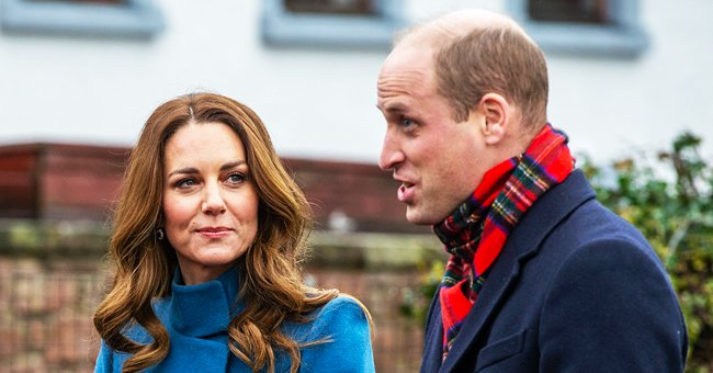 Duchess Kate Shows Her Tiny Waist as She Recycles Chic Blue Catherine Walker Coat in Edinburgh
