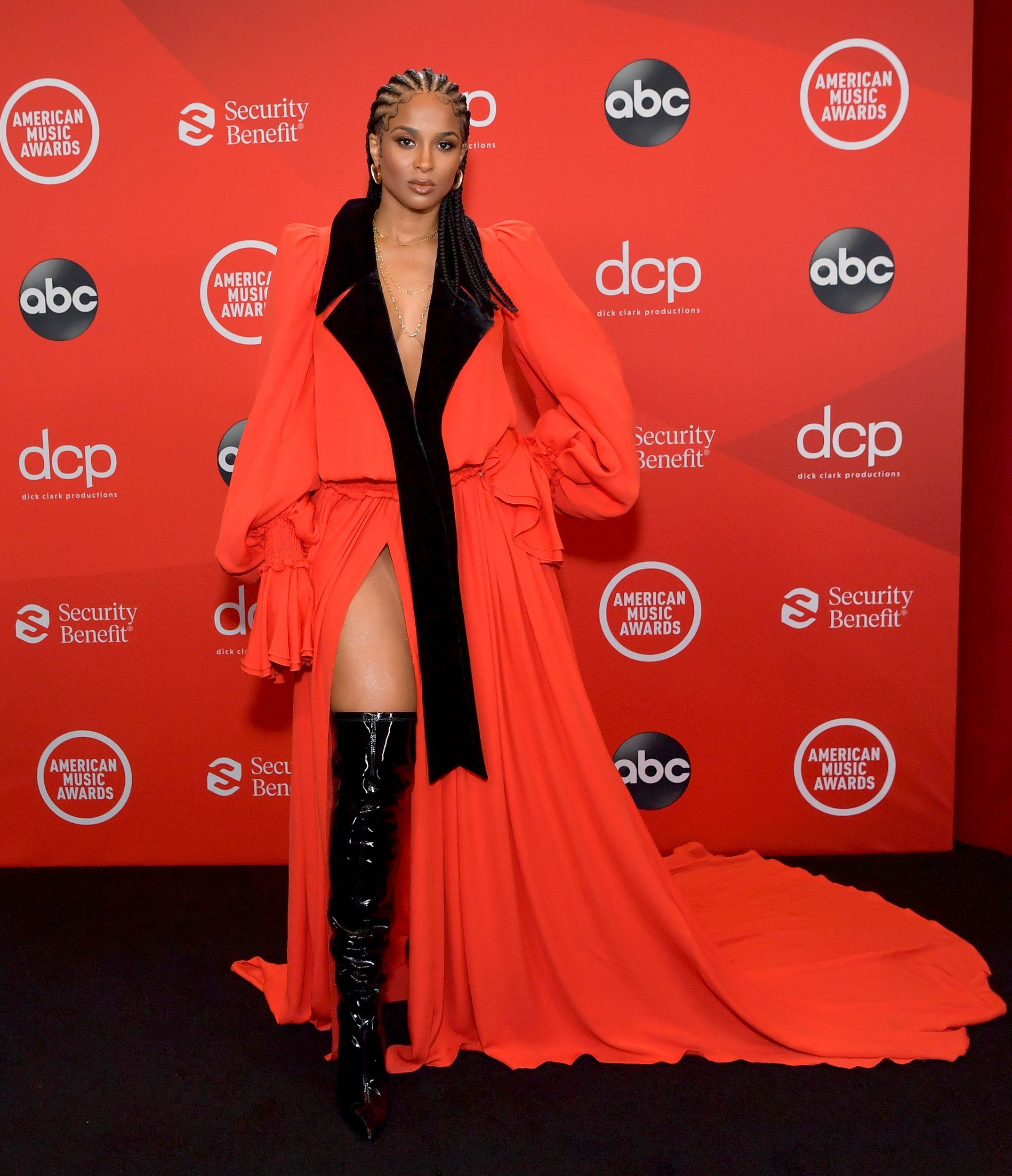 Ciara poses at the 2020 American Music Awards at Microsoft Theater on November 22, 2020 in Los Angeles, California.   Source: Getty Images