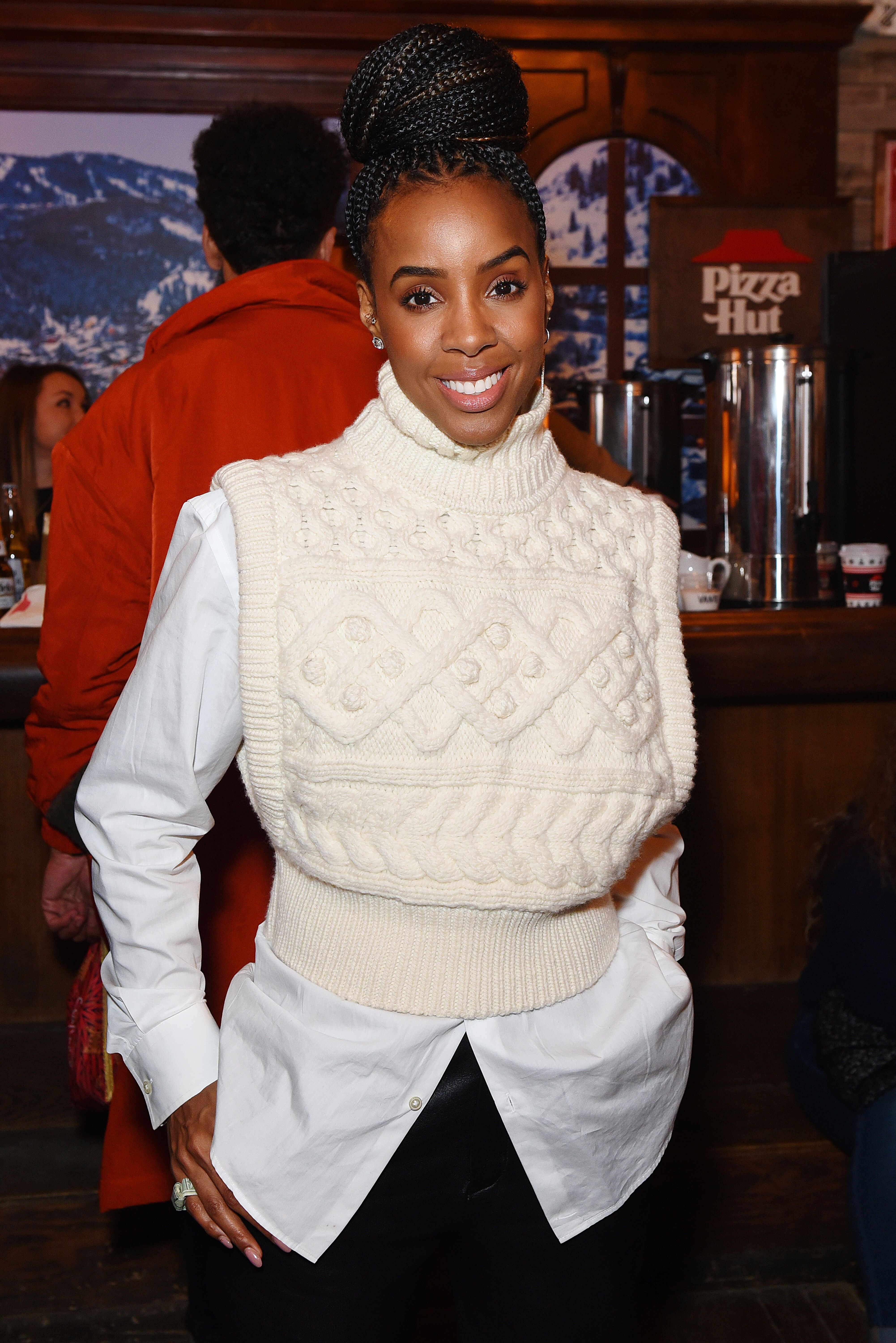 Kelly Rowland of 'Bad Hair' attends the Pizza Hut x Legion M Lounge during Sundance Film Festival. | Source: Getty Images
