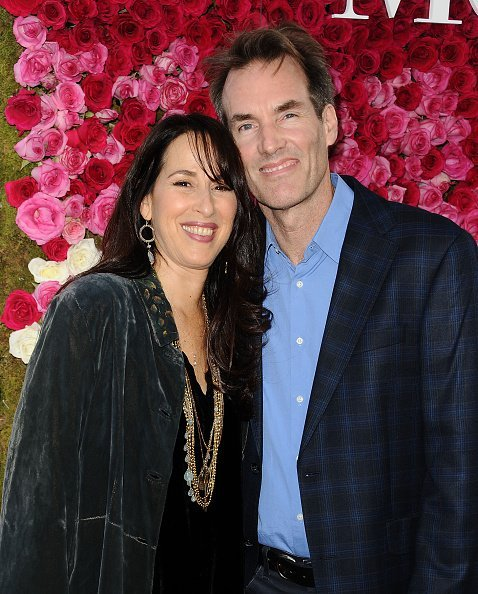 Maggie Wheeler and husband Daniel Borden Wheeler at TCL Chinese Theatre IMAX on April 13, 2016 in Hollywood, California. | Photo: Getty Images