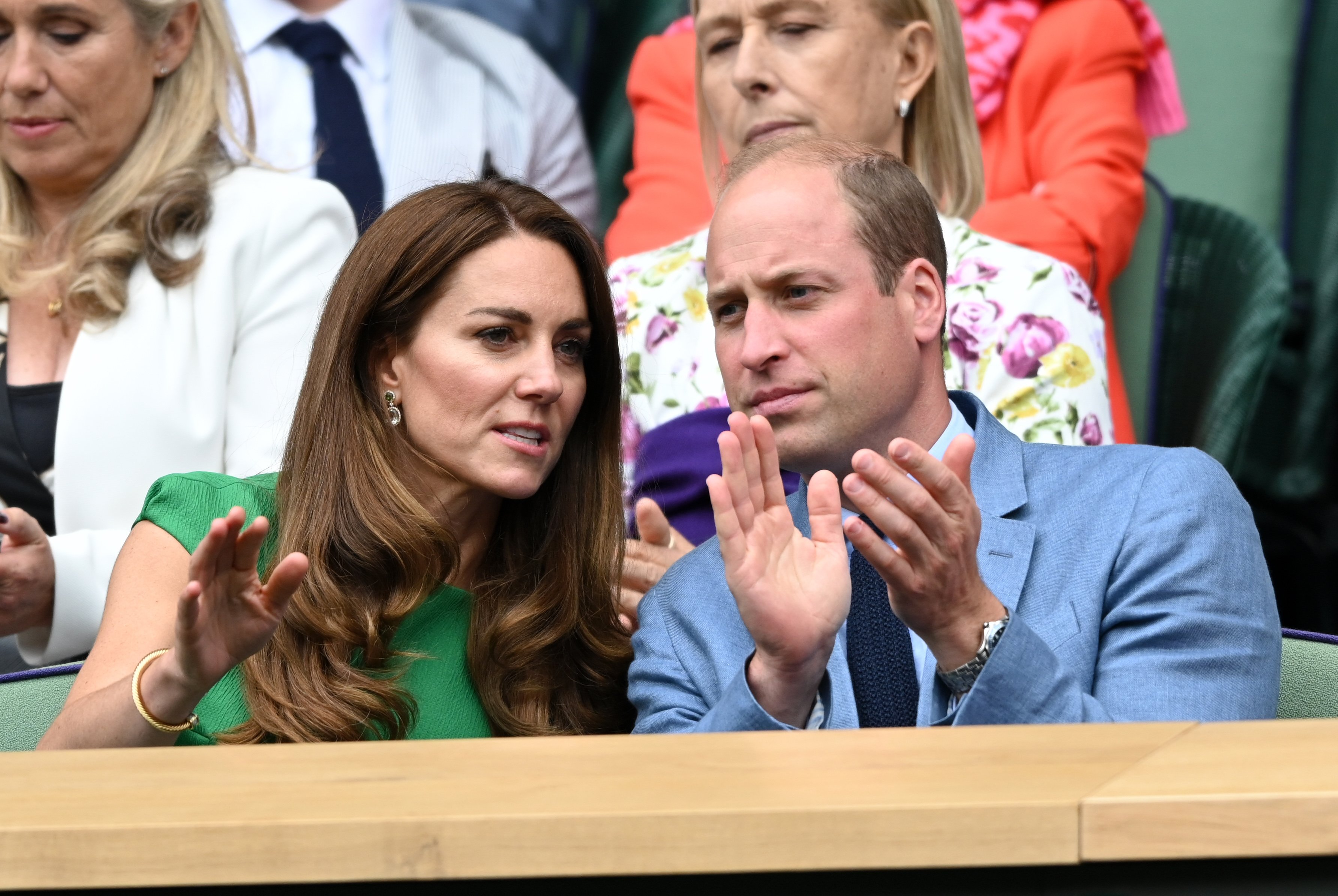 Prince William, and Catherine attend the Wimbledon Tennis Championships at the All England Lawn Tennis and Croquet Club on July 10, 2021 in London, England. | Source: Getty Images