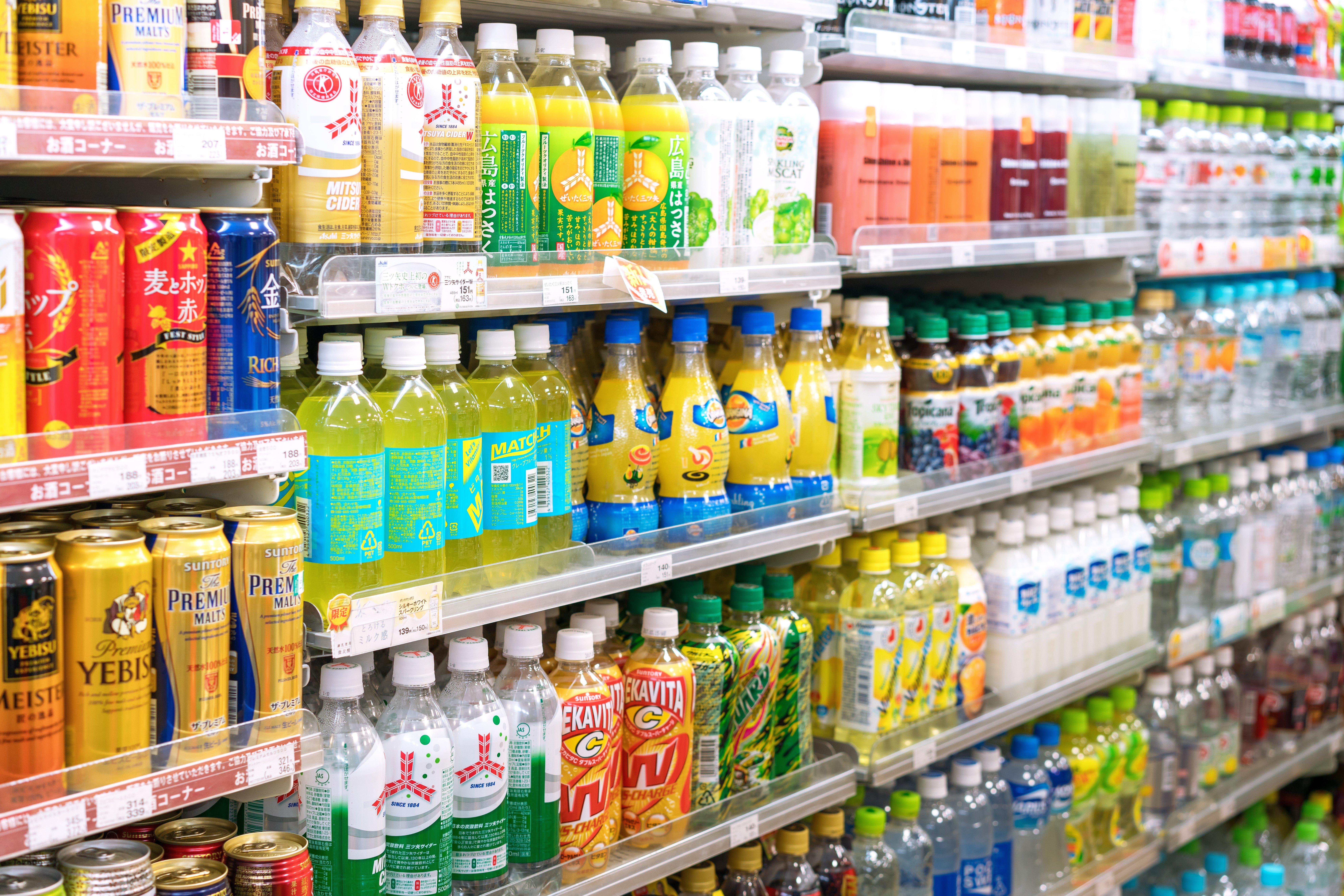 Bebidas procesadas. Foto: Shutterstock
