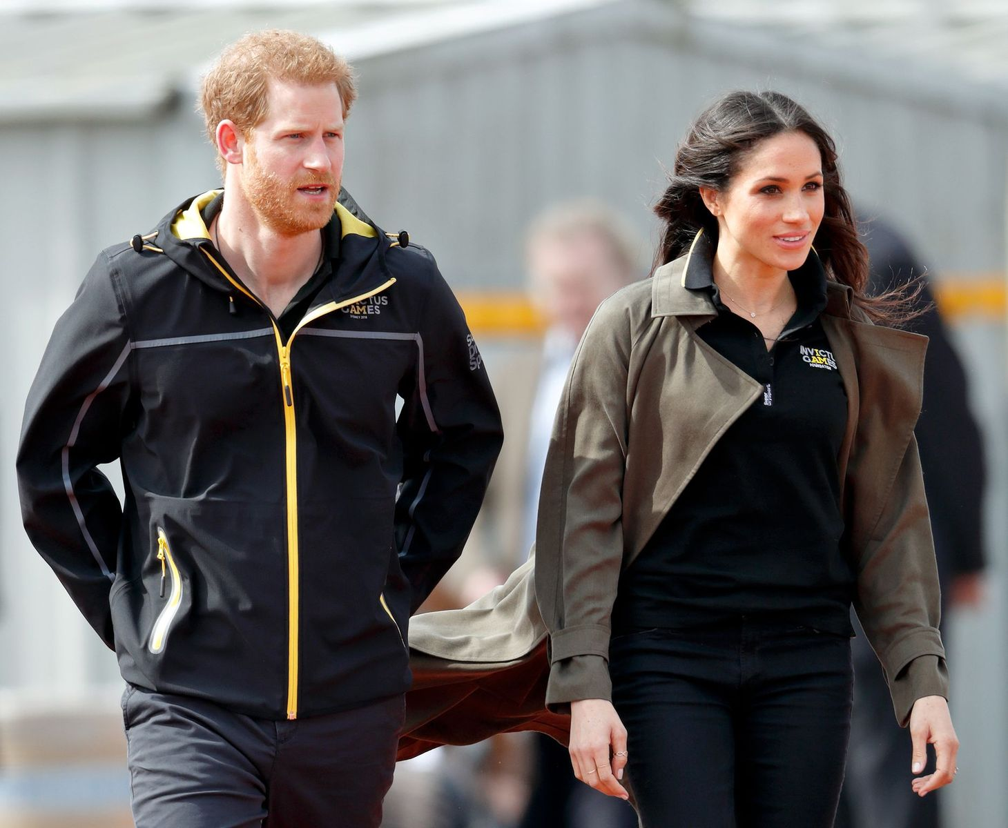 Prince Harry and Duchess Meghan at the UK Team Trials for the Invictus Games on April 6, 2018 | Photo: Getty Images