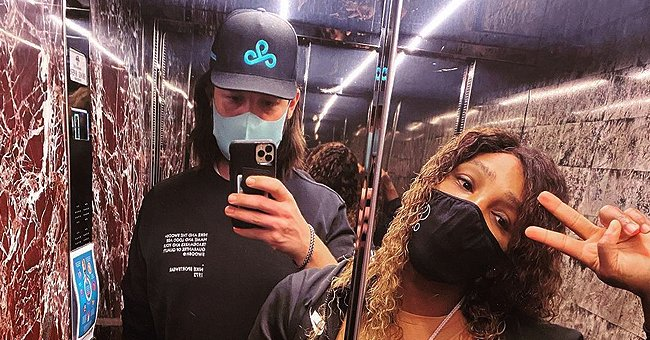 Serena Williams & Her Husband Alexis Ohanian Pose in a Mirror Selfie Promoting 'S' Logo Masks