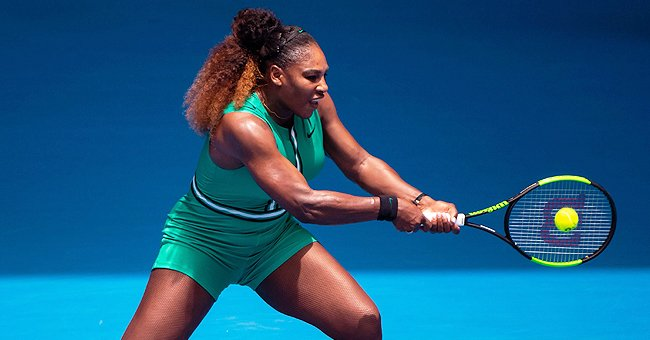 Serena Williams' Adorable Daughter Olympia Supports Her in Australia during 1st Tennis Match