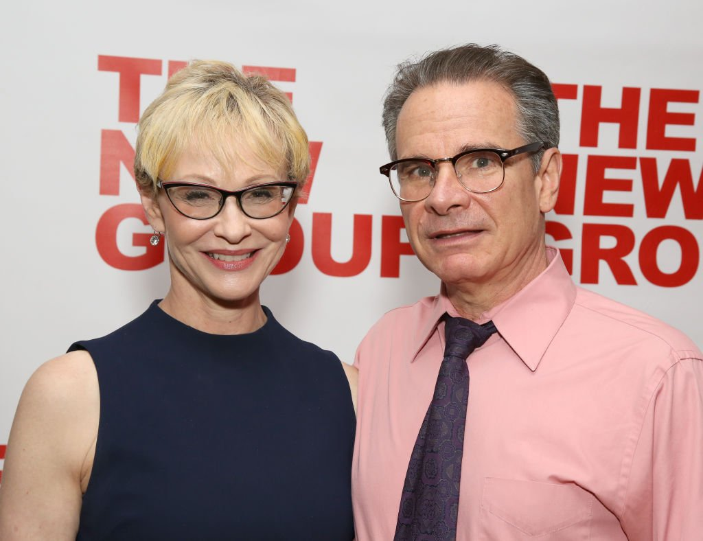 "Tracy Shayne and Peter Scolari attend the New Group World Premiere of ""The True"" on September 20, 2018 at The Green Fig Urban Eatery in New York City 