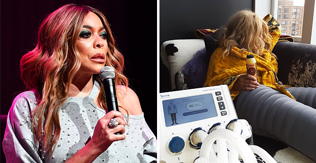 Wendy Williams Receives Her Daily 45-Minute Lymphedema Treatment (Photo)