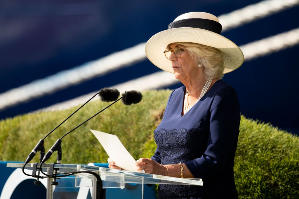 """Camilla, Duchess of Cornwall names Saga's new Cruise Ship """"Spirit Of Discovery"""" at Port of Dover on July 5, 2019 in Dover, England. 