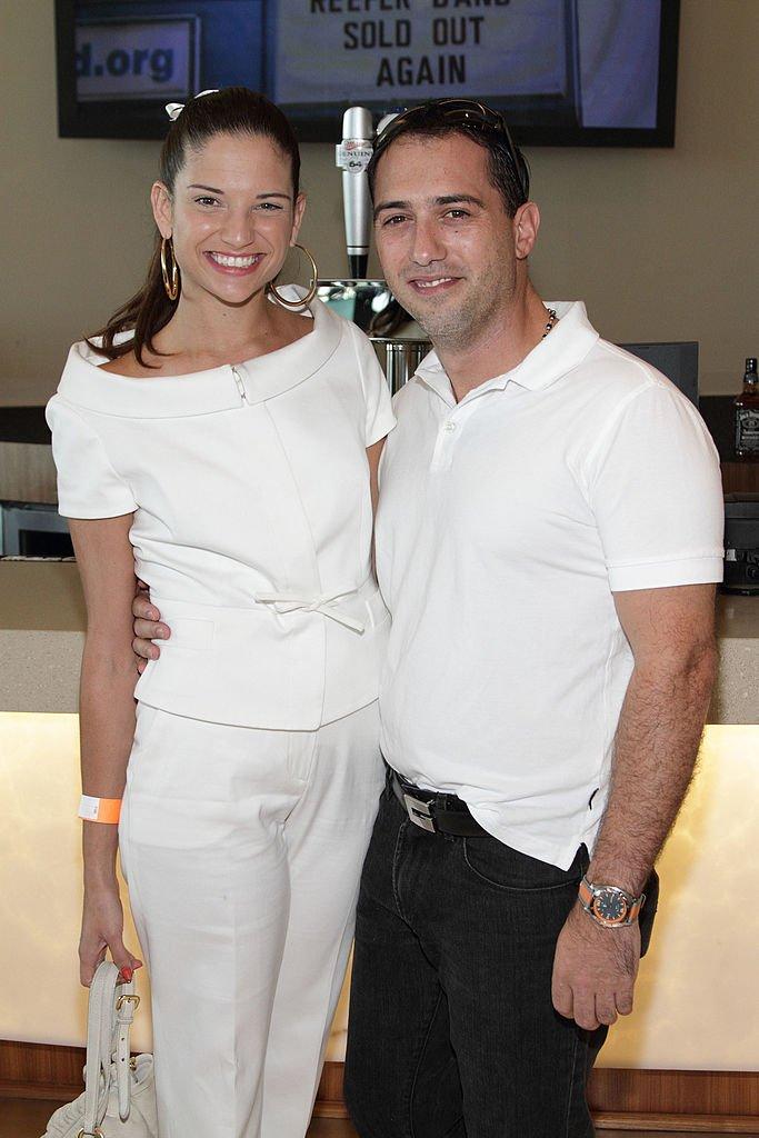 Natalia Jiménez y Daniel Trueba en un evento organizado por Emilio Estefan el 27 de agosto de 2010.   Foto: Getty Images