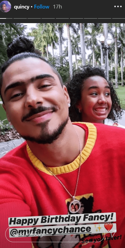 Quincy Combs wishing his sister, Chance Combs, a happy birthday | Photo: Instagram/quincy